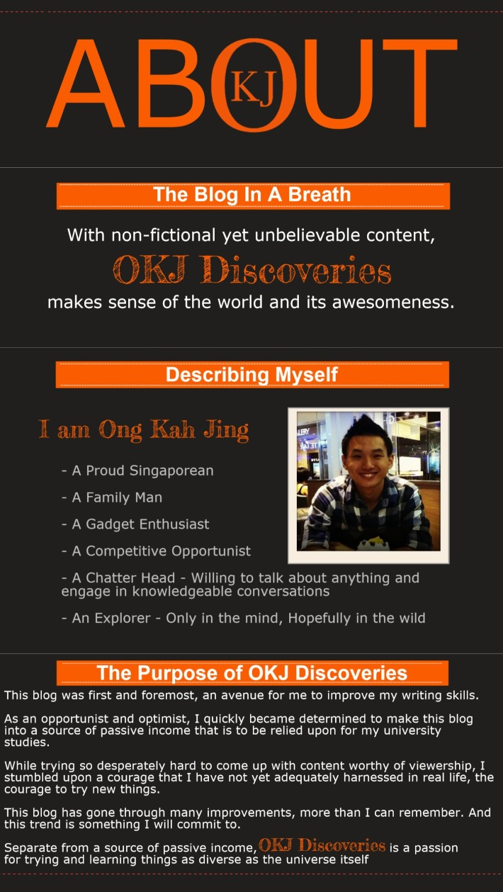 About Me Infograph Version 1