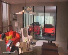 The only condo that has a sky porch in Singapore and the region. Why do you want to park your car in the living room? Simple, because you can.