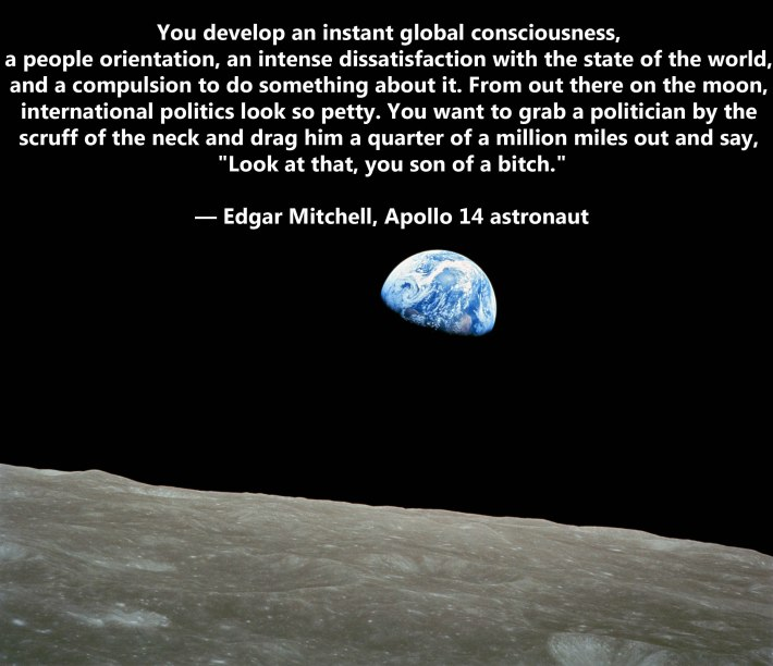 Edgar Mitchell Moon Quote
