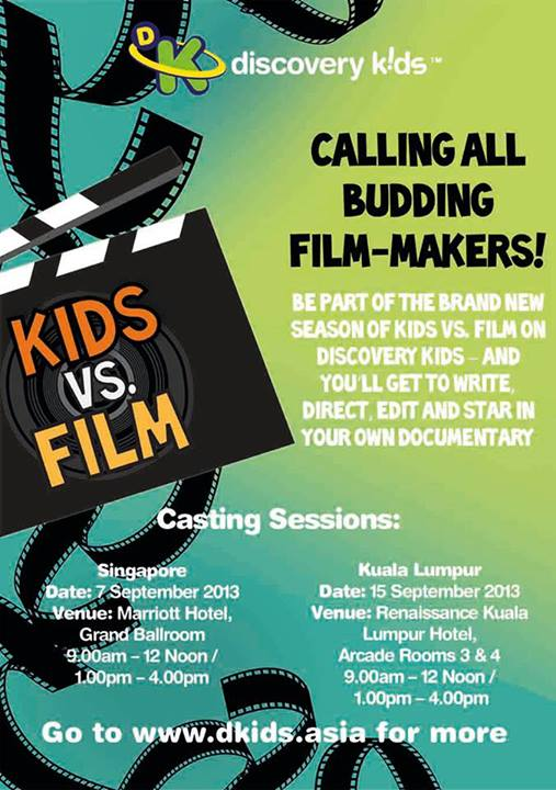 Kids vs. Film Season 2 Casting Session Details