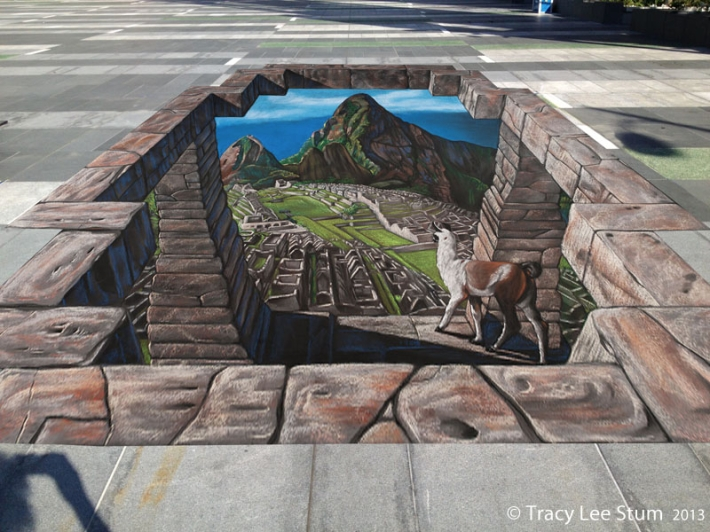 3D Chalk Machu Picchu Credit: Tracy Lee Stum