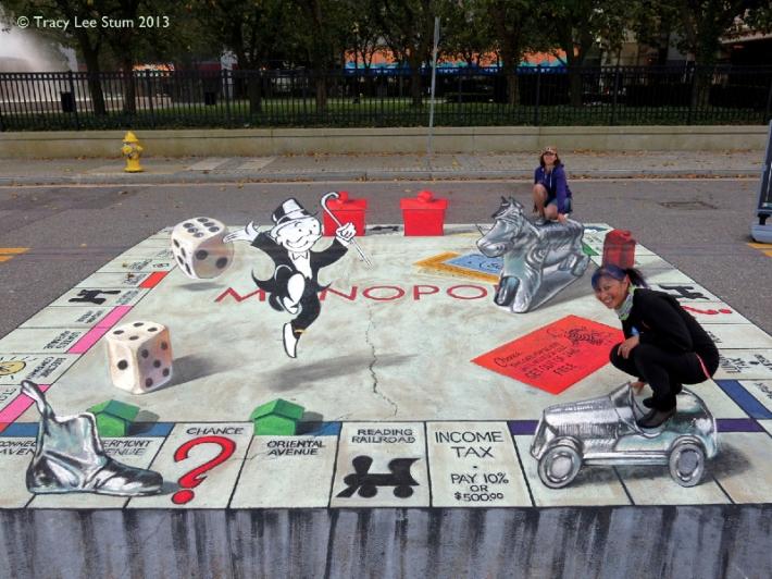 3D Monopoly Chalk Credit: Tracy Lee Stum