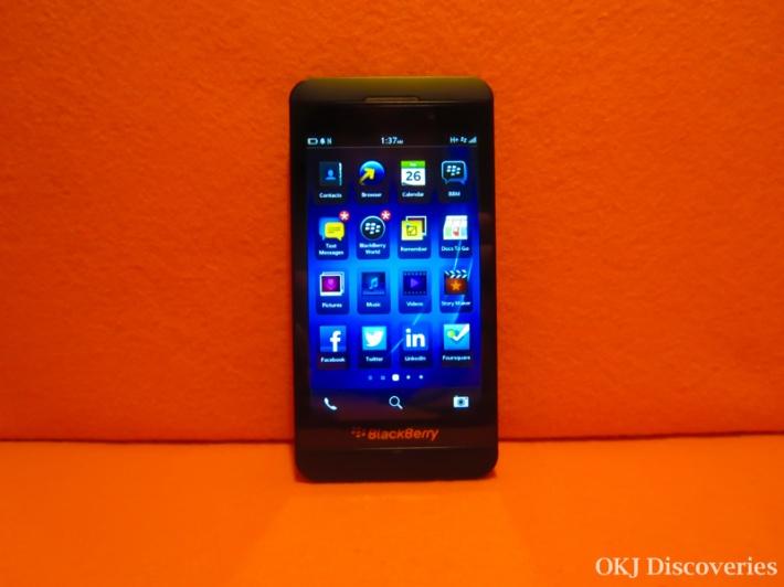 BlackBerry Z10 Screen