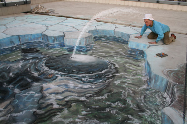 Japanese Whale Credit: Julian Beever