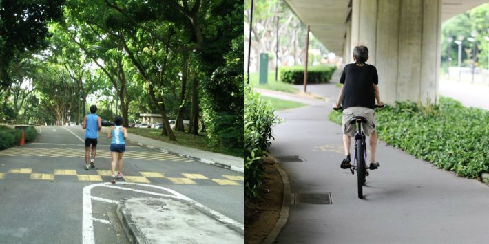 jogging-and-cycling