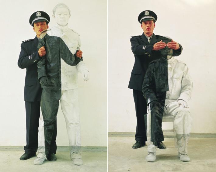 Liu Bolin Officers (Credit: Liu Bolin)