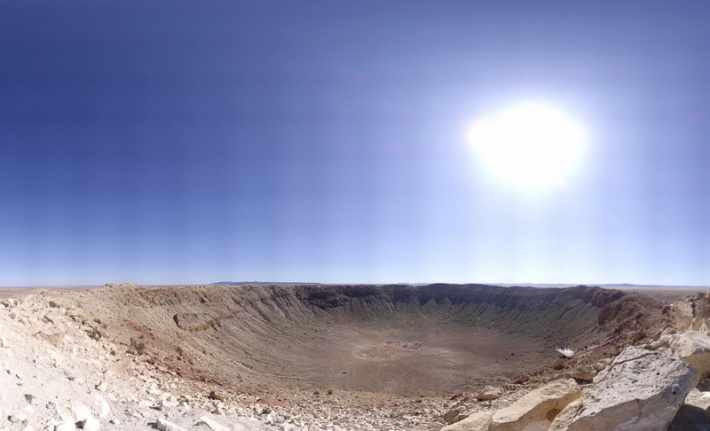 Meteor Crater (2 Gigapixels) Credit: Brian Lockett Click to view full Panorama