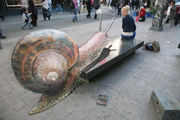 Snail Credit: Julian Beever