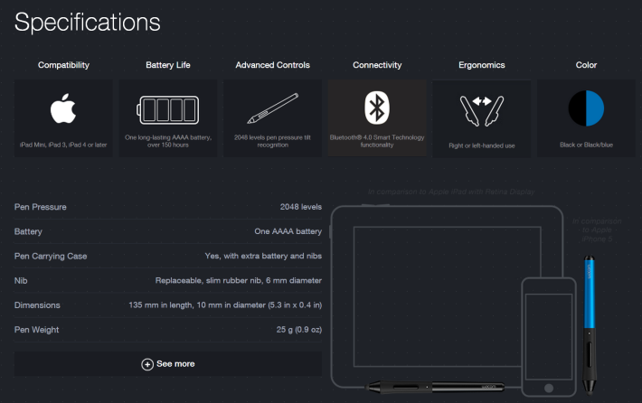 Wacom-Intuos-Creative-Stylus-Specifications